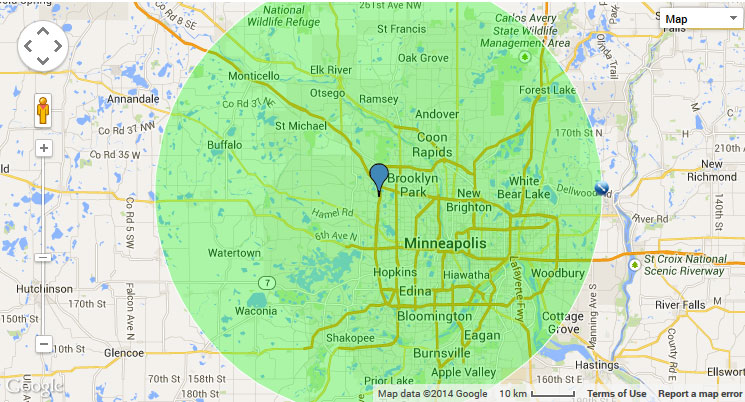 Minnesota Heating Heating Amp Air Conditioning Service Area