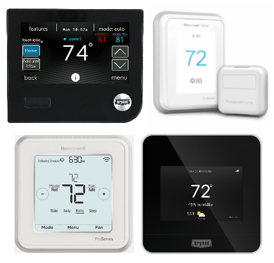 Wi-Fi Programmable & Learning Thermostats
